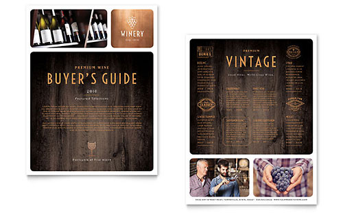 Winery Datasheet - Microsoft Office Template