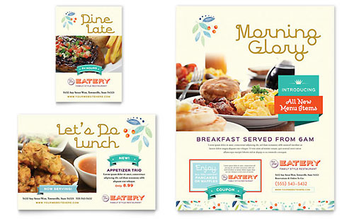 Family Restaurant Flyer & Ad - Microsoft Office Template