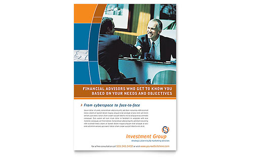 Investment Services Flyer Template Design