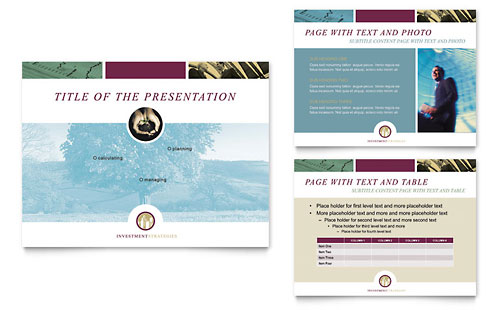 Financial Consulting PowerPoint Presentation Template - Microsoft Office