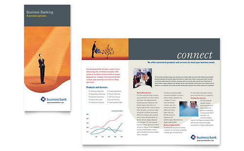 Business Bank Brochure Template - Microsoft Office