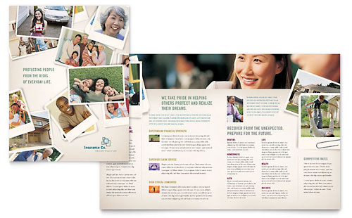 Life Insurance Company Brochure Template - Microsoft Office