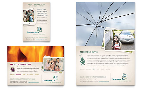 Life Insurance Company Flyer & Ad Template - Microsoft Office