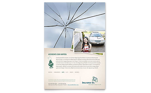 Life Insurance Company Flyer Template - Microsoft Office