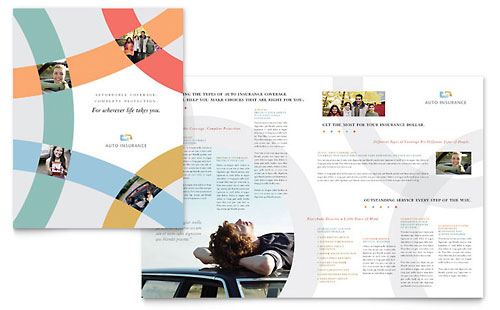 Car Insurance Company Brochure Template - Microsoft Office