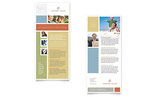 Investment Advisor Rack Card Template - Microsoft Office