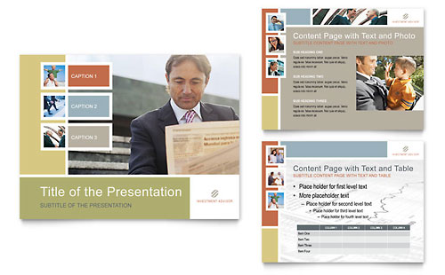 Investment Advisor PowerPoint Presentation Template - Microsoft Office