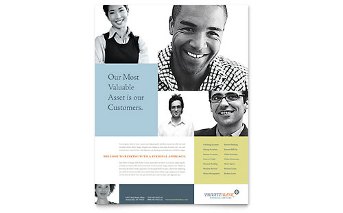 Private Bank Flyer - Microsoft Office Template