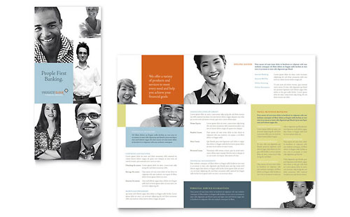 Private Bank Tri Fold Brochure Template - Microsoft Office