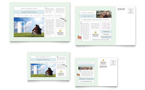 Mortgage Lenders Postcard - Microsoft Office Template