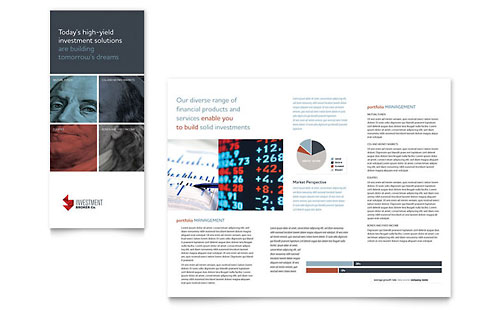 Investment Bank Tri Fold Brochure Template Design