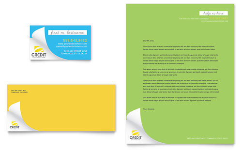 Consumer Credit Counseling Business Card & Letterhead Template - Microsoft Office