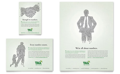 Accounting & Tax Services Flyer & Ad Template Design