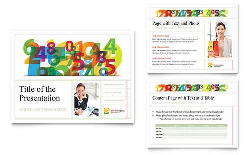 Bookkeeping Services - Sample PowerPoint Presentation Template - Word & Publisher