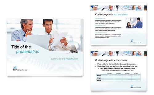 Accounting Firm PowerPoint Presentation Template - Microsoft Office
