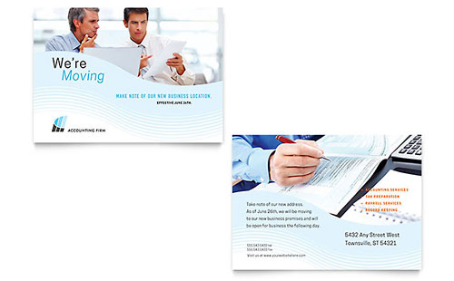 Accounting Firm - Sample Announcement Template - Word & Publisher