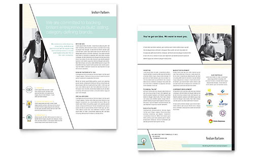Venture Capital Firm Datasheet Template - Microsoft Office