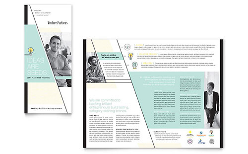 Venture Capital Firm Tri Fold Brochure Template - Microsoft Office