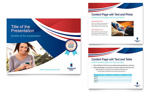 Bank - Sample PowerPoint Presentation Template - Word & Publisher
