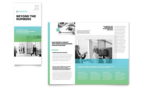 Auditing Firm Tri Fold Brochure Template - Microsoft Office