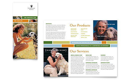 Veterinarian Clinic Brochure Template - Microsoft Office