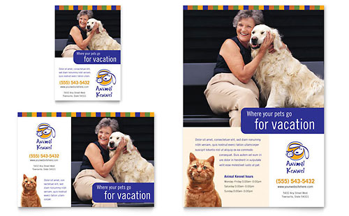 Dog Kennel & Pet Day Care Flyer & Ad Template - Microsoft Office