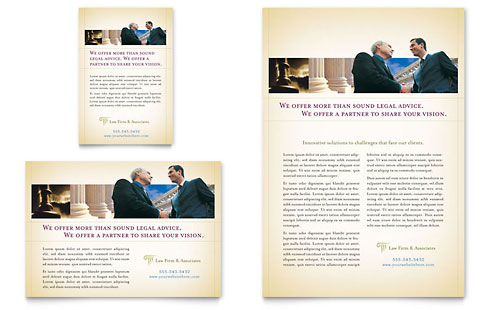Attorney & Legal Services Flyer & Ad - Microsoft Office Template