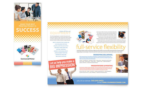 Commercial Printer Brochure Template - Microsoft Office