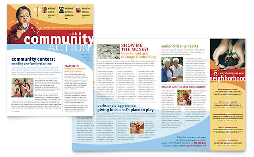 Community Non Profit Newsletter - Microsoft Office Template