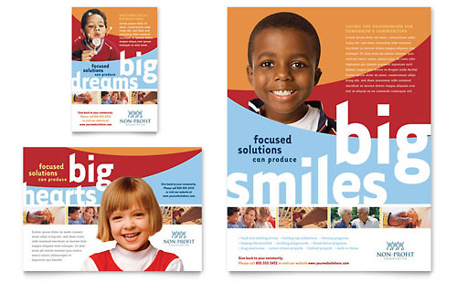 Community Non Profit Flyer & Ad Template - Microsoft Office