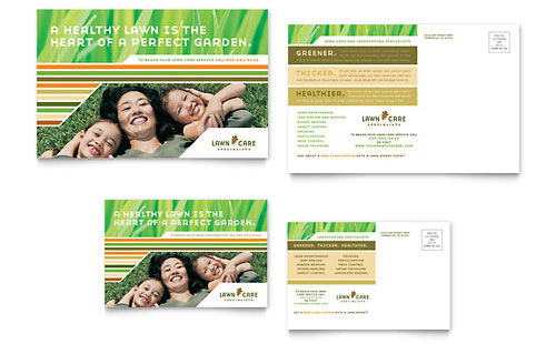 Lawn Care & Mowing Postcard - Microsoft Office Template