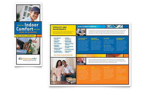 Heating & Air Conditioning Brochure Template - Microsoft Office