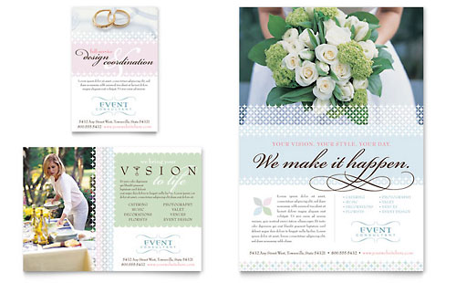Wedding & Event Planning Flyer & Ad - Microsoft Office Template