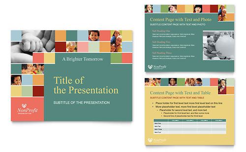 Non Profit Association for Children PowerPoint Presentation - Microsoft Office Template