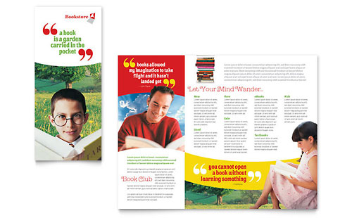 Bookstore & Library Brochure Template - Microsoft Office