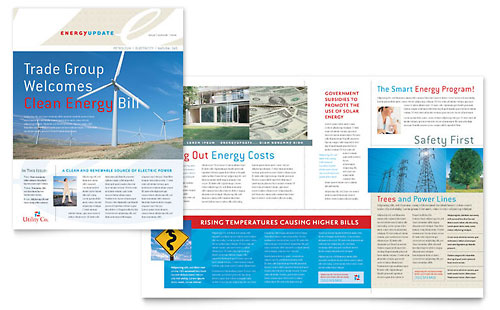 Utility & Energy Company Newsletter Template Design