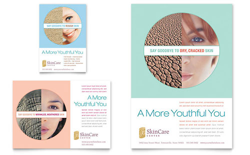 Skin Care Clinic Flyer & Ad Template - Microsoft Office