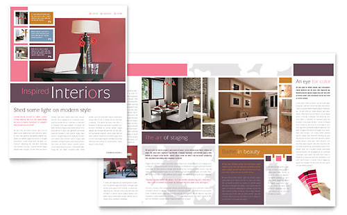 Interior Designer Newsletter Template - Microsoft Office