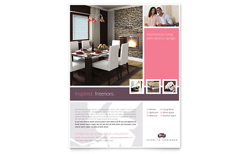 Interior Designer Flyer Template - Microsoft Office