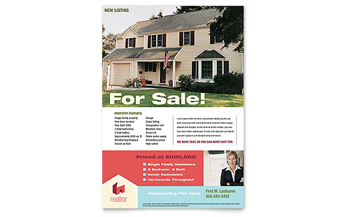 Home Real Estate Flyer - Microsoft Office Template