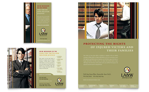 Lawyer & Law Firm Flyer & Ad - Microsoft Office Template