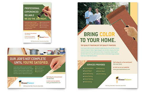Painter & Painting Contractor Flyer & Ad Template - Microsoft Office