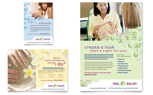 Nail Salon Flyer & Ad Template - Microsoft Office