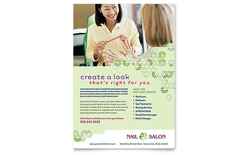 Nail Salon Flyer - Microsoft Office Template
