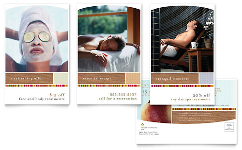 Health & Beauty Spa Postcard Template - Microsoft Office