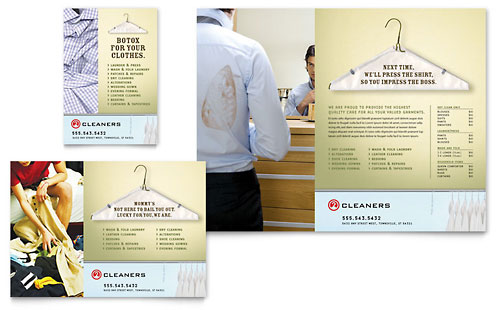 Laundry & Dry Cleaners Flyer & Ad - Microsoft Office Template