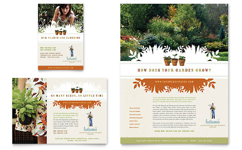Landscape & Garden Store Flyer & Ad Template - Microsoft Office