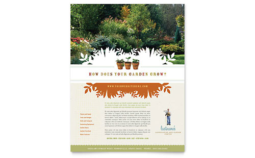 gardening  u0026 lawn care - flyer templates