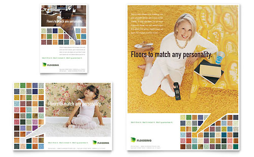 Carpet & Hardwood Flooring Flyer & Ad - Microsoft Office Template