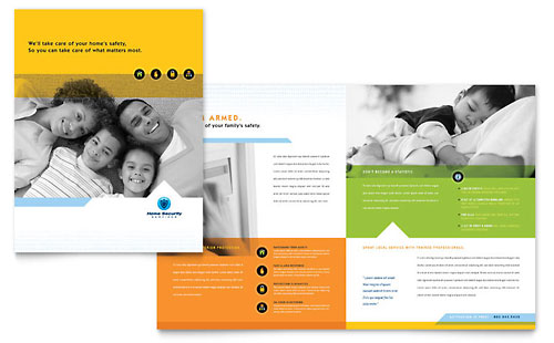 Home Security Systems Brochure - Word Template & Publisher Template